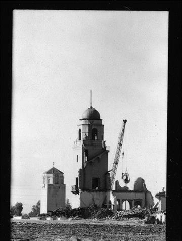 On September 25, 1968 demolition of the El Conquistador Hotel began. By Bryce Potter