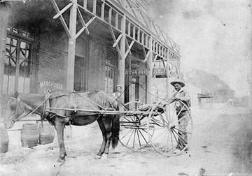 On September 30, 1936 William Neal died at age 87.   Neal carried the mail between Tucson and Mammoth for 42 years and built the Mountain View Hotel at Oracle in 1894. By Arizona Historical Society