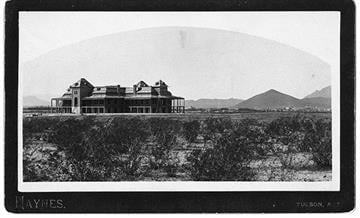 On October 1, 1891 The University of Arizona opens its doors for the first time. By Arizona Historical Society