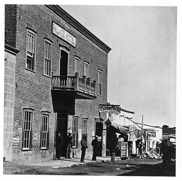 On October 7, 1886the Palace Hotel advertised that day board would be $5 per week and 50 cents per meal or three meals for $1.00. By Arizona Historical Society