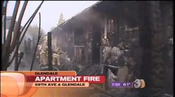 Flames ripped through some apartments at 59th and Glendale avenues early Thursday morning. By Catherine Holland