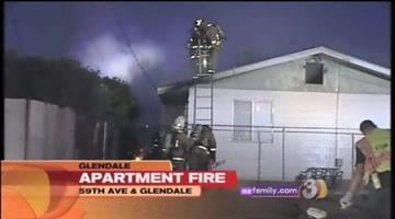 Fire tore through three Glendale apartments early Thursday morning. By Catherine Holland
