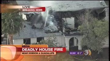 The Mesa police and fire departments have confirmed that one person was killed in an early morning house fire at a home that was initially believed to be vacant. By Catherine Holland