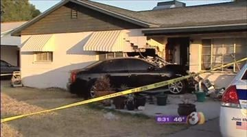A Valley man is facing DUI charges after plowing his car into the side of  a Phoenix home early Thursday morning. By Catherine Holland