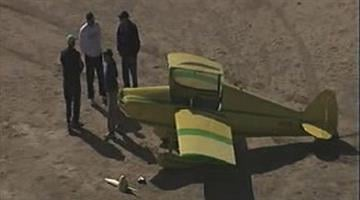 A small plane made an emergency landing near Old Price and Queen Creek roads Thursday morning. By Jennifer Thomas