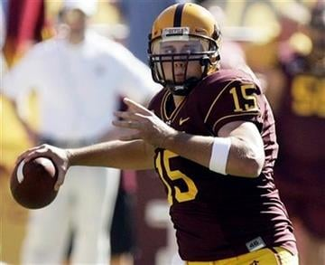Arizona State quarterback Danny Sullivan looks for an open receiver in the second quarter of an NCAA college football game against California Saturday, Oct. 31, 2009, in Tempe, Ariz. (AP Photo/Paul Connors) By Paul Connors