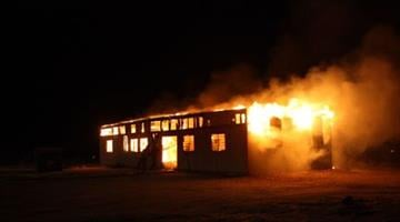 Investigators have determined that a structure fire Wednesday night in Bullhead City was intentionally set. (Photo courtesy of the Bullhead City Fire Department.) By Jennifer Thomas