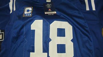 Counterfeit Colts jersey By Jennifer Thomas