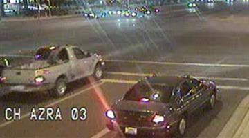Chandler police are searching for a suspect who stole a pickup truck and took its owner on a wild ride through city streets. By Jennifer Thomas