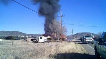 The Antlers Bar & Cafe in Young, Ariz., burned down By Jennifer Thomas