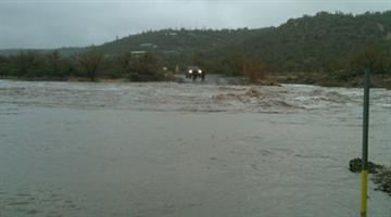 I-17 frontage road is washed out By Jennifer Thomas