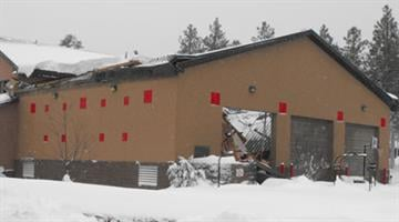 The roof collapsed at Pinetop Fire Station #120 By Jennifer Thomas