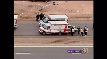 Two kids and their mother were flown to Maricopa Medical Center after their SUV rolled in Apache Junction Wednesday morning. By Catherine Holland