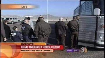 Arizona began transferring illegal immigrants who have been convicted of nonviolent crimes from the Arizona State Prison Complex in Buckeye to federal custody to serve out the last three months of their sentences. By Catherine Holland
