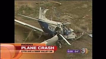 A plane went down near 27th Avenue and Deer Valley Road not far from Deer Valley Airport Thursday morning. By Catherine Holland