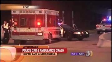 A police car and an ambulance were involved in a collision on their way to another wreck in Avondale early Friday morning. By Catherine Holland