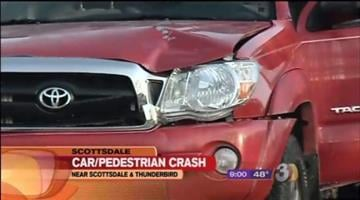 A 58-year-old woman is in the hospital after a pickup truck hit her while she was crossing the street early Thursday morning. By Catherine Holland