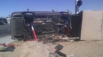 The collision caused one of the vehicles to hit a utility box By Jennifer Thomas