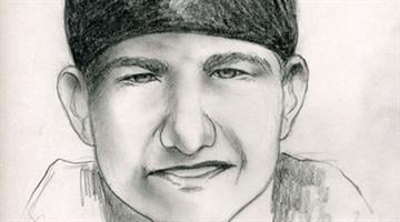 Sketch of suspect who stabbed woman while walking on Prescott street. By Alicia Barron