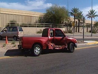 A man wanted for questioning in a homicide fled from police and crashed into a pickup truck By Jennifer Thomas
