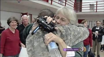 A Valley–based unit that spent a year serving in Afghanistan returned home to their families Saturday, but they came home without one of their own. By Catherine Holland