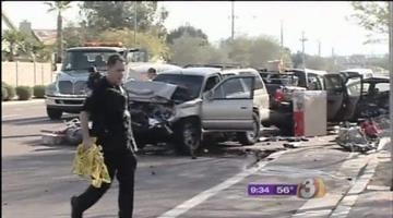 Investigators believe a driver who fell asleep at the wheel is responsible for touching off a series of chain-reaction wrecks that involved five vehicles Wednesday morning. By Catherine Holland