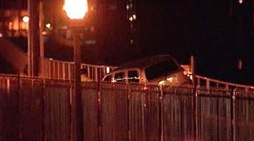 Car stuck on light rail tracks By Alicia Barron