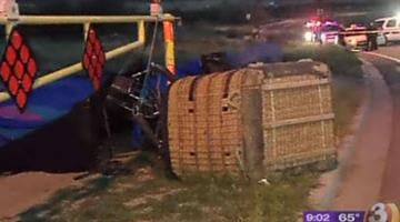 A family of four was involved in a hot air balloon hard landing. By Alicia Barron