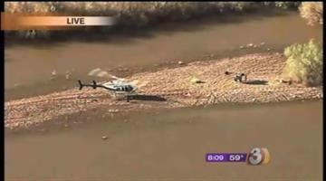 After being stranded on a sand bar in the Gila River in Buckeye since Friday afternoon, Colorado the horse was air-lifted to dry land Tuesday morning in a spectacle rarely seen by most people. By Catherine Holland