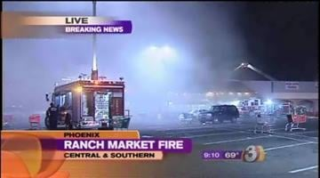 Owners of a Phoenix Ranch Market are assessing the damage after a two-alarm fire ripped through the store Saturday night. By Catherine Holland
