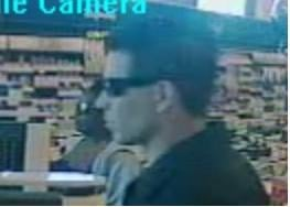 Security cameras at the store caught this images of the suspected robber. By Catherine Holland