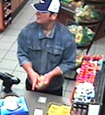 The photograph is of a person of interest seen at a convenience store a short time and distance after Thursday night's robbery of the Valero Service station located at 9520 E. 22 Street. By courtesy Tucson Police Department