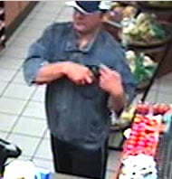 The photograph is of a person of interest seen at a convenience a store a short time and distance after Thursday night's robbery of the Valero Service station located at 9520 E. 22 Street. By courtesy Tucson Police Department