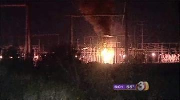 A huge fire fed by mineral oil is burning at an SRP power plant in Avondale. By Catherine Holland