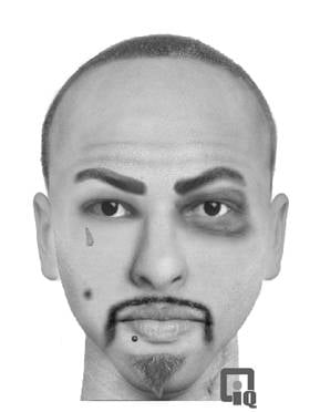 Sketch of suspect provided by Glendale police. By Alicia Barron