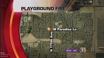A fire that destroyed a Surprise playground is under investigation. By Catherine Holland