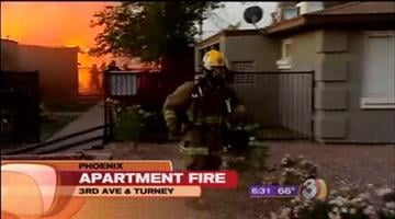 Crews were called out to the scene of a large apartment fire in Central Phoenix early Tuesday morning. By Catherine Holland