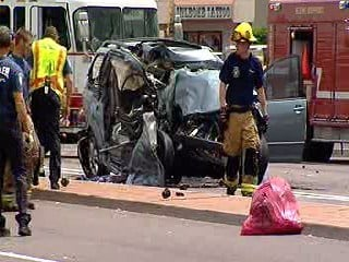 Two women were critically injured in a crash between a semi-truck and a minivan in Chandler By Jennifer Thomas