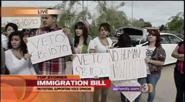 They're too young to vote, but dozens of students are cutting classes today to express their opinions on SB1070, the controversial anti-illegal-immigration bill sitting on Gov. Jan Brewer's desk. By Catherine Holland