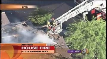 Crews spent Monday morning battling a first-alarm house fire in Anthem. By Catherine Holland