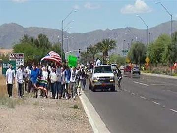 Students from Valley Vista High School in El Mirage voiced their opinions of the immigration law. By Jennifer Thomas