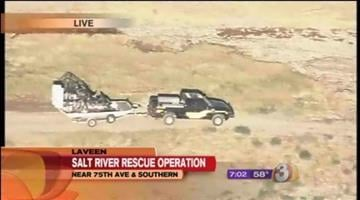 Crews searching for a 15-year-old who was swept away while swimming in the Salt River Sunday say they have found the teen's body. By Catherine Holland