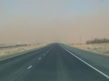 I-40 was closed east of Flagstaff on May 11 because of high winds and low visibility. By Jennifer Thomas