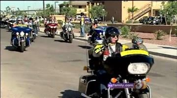 Dozens of Arizona motorcyclists -- combat veterans -- are firing up their bikes and choppers to Run for the Wall. They're joining hundreds of others in a ride to The Vietnam Veterans Memorial in Washington, D.C. By Catherine Holland