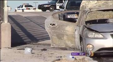 Two people were air-lifted to the hospital Sunday, lucky to be alive after the car they were in caught fire while on the freeway in Mesa. By Catherine Holland