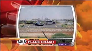 Two people were hurt when a small single-engine plane crashed while trying to land at Chandler Municipal Airport Wednesday morning. By Catherine Holland