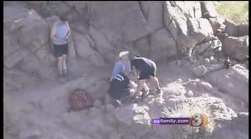 Firefighters had to go up Camelback Mountain Wednesday morning to help a hiker who injured his knee during an apparent bee attack. By Catherine Holland