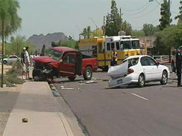Three adults and one child were transported to a local hospital after a three-vehicle collision. By Jennifer Thomas