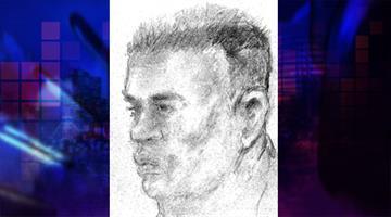 Suspect sketch By Jennifer Thomas