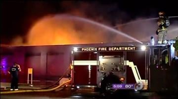 Fire crews from all over the Valley were called out to a huge fire at an Arizona Department of Environmental Quality vehicle-emissions testing facility in southeast Phoenix early Thursday morning. By Catherine Holland